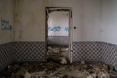 The trashed rooms (rvanhegelsom) Tags: europe old urban urbex urbanexploration urbexworld urbxtreme rural portugal abandoned derelict hospital sanatorium indoors indoor room rooms trashed