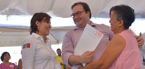 El gobernador, Javier Duarte de Ochoa, entregó títulos de la CORETT