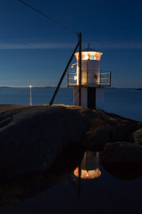 Hn Klova Lighthouse (diesmali) Tags: cker vstragtalandsln sweden hn klova klva lighthouse night sea ocean pool reflections moonlight canoneos6d canonef1740f4lusm blue sky cloud
