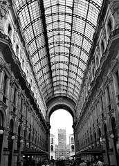 Milano (tittamouse) Tags: blackandwhite bw blacknwhite milano galleria italia italy view