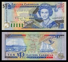 (XCD4b) 1993 Eastern Caribbean States: Anguilla, Eastern Caribbean Central Bank, Ten  Dollars (AR)... (José Pestana) Tags: airelibre america amerika amérika anguilla billete bills caribe easterncaribbeanstates fondonegro islasdelcaribe josépestana paises papermoney simbolo sony sonynex sonynex6 xcd biglietto bilhete billet ithikithi itikiti pilet tiket tiketi tikè tiogaid tocyn tīkiti билет карта квиток тасалбар ٽڪيٽ टिकट ટિકિટ ბილეთის សំបុត្រ