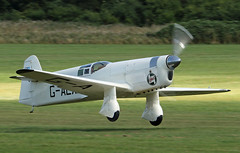 G-AEXF Percival Type-E mew Gull (David Russell UK) Tags: type e typee mew gull gaexf castrol race racing aircraft aeroplane airplane plane vehicle flying aviation kings cup old warden aerodrome display 2016 england