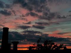 Leyton Sunset- Zoom (Climate_Stillz) Tags: sunset sunsetcolours coloursatsunset pinksky pinkclouds dippingsun silhouette clouds colouredsky colouredclouds cloudscape eastlondon leyton evening eveningshot mobilephotography nexus5