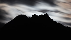 Neukirchen Moonlight Silhouette (Jon Ames) Tags: moonset moon nighttime neukirchen austria alps sterreich tauern