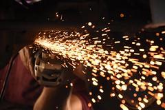 Bokeh (Alick Boych) Tags: sparks work hard drill man speed light bokeh car cars tight