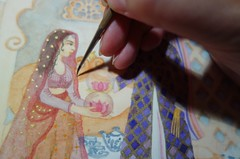 Working on a new painting... (Celeste33) Tags: painting artist veil indian watercolour starseed celestegoulding