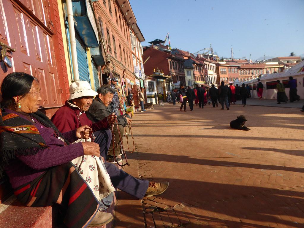 Locals around the Stupa
