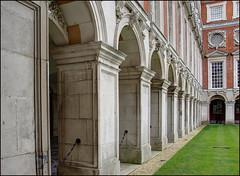 Wren's cloister 3 (alanhitchcock49) Tags: fountain court march christopher palace wren cloister hampton sir hdr 2015