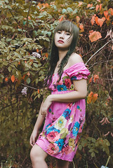 Blush (JanJanCapili) Tags: portrait woman colors girl beauty fashion forest vintage garden photography women gloomy photoshoot emotion image expression candid wildlife philippines surreal velvet retro fantasy portraiture simplicity editorial expressive concept wilderness conceptual capture couture elegance janjan sining kulay capili teamlimitless janjancapili