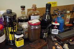 Saddlers Dye (debbiestringer13) Tags: england workbench saddlery saddlerstools