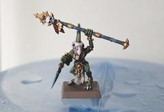 Skink Priest Front (KBPainter) Tags: art miniature model paint reptile lizard warhammer priest skink lizardmen