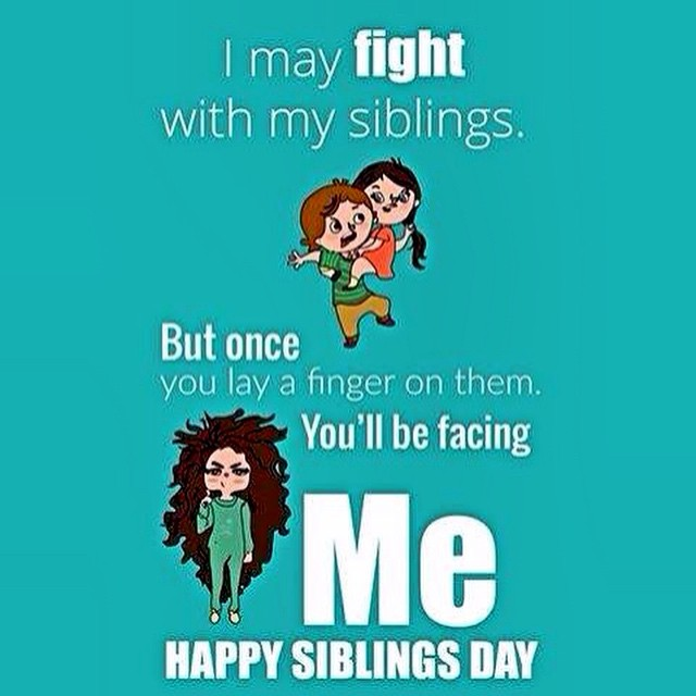 Happy #SIBLINGS DAY.