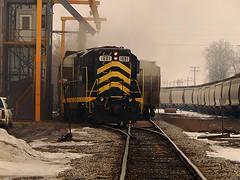 Indiana Northeastern loading grain at Edon Ohio (Matt Ditton) Tags: ohio indiana northeastern edon
