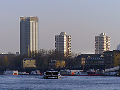 Residential Towers (Kombizz) Tags: uk seascape london architecture buildings landscape towers residential thamesriver threetowers 3towers kombizz residentialtowers 1080571