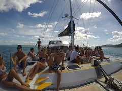 Sur le catamaran Wings 3