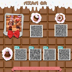tumblr_n605trEVpV1tczz7to1_1280 (nshaman) Tags: new animal leaf code crossing chocolate vesti animalcrossing cioccolato veste qr cappello ombrello qrcode codes parasole vestiti newleaf vestito qrcodes animalcrossingnewleaf