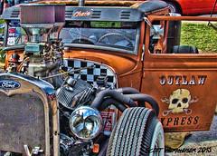 Rat Rod (Scott Werkheiser) Tags: street cruise white chattanooga wall canon skull rat tn low rusty tire coker rod carbs express dual rider loud crusty outlaw 2015 sx30is