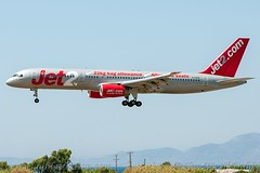 """G-LSAA, Jet2, Boeing 757-236 - cn 24122.""""Tenerife"""" (dahlaviation.com Thanks for over 1 !! million view) Tags: airplane aircraft aviation airplanes greece boeing rhodes spotting 757 aircrafts rho planespotting jet2 lgrp diagoras"""