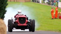 Napier Bentley (badhands13) Tags: red smoke special napier bentley hillclimb motorsport racingcar hoya 200mm chateauimpney aeroengined
