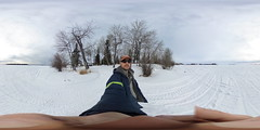 frozen saskatchewan (ThisIsMeInVR.com) Tags: samsung 360 virtual reality ricoh vr oculus spherical 360vr