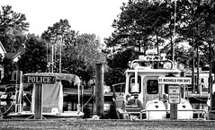 laid back town (-gregg-) Tags: st michaels md harbor boats police fire trees water
