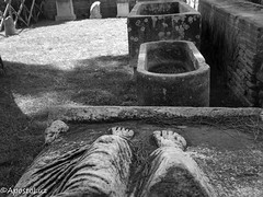 Summer Ancient Leg Selfie ((GreenCross Photography)) Tags: funny humor italia ancient sarcophagus