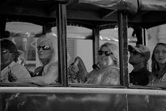Tourist Trolley, Savannah (tvdflickr) Tags: blackandwhite trolley savannah georgia savannahgeorgia tourist photobytomdriggers photosbytomdriggers thomasdriggersphotography nikon df nikondf