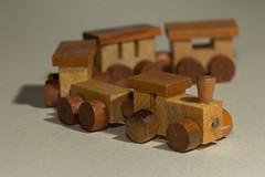 Wooden train (Mighty Badaboom) Tags: train zug spielzeug holz wodden toy bokeh makro