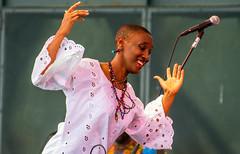 Dancer (fotofrysk) Tags: dancer stage okavangaafricanorchestra harbourfrontcentre concertstage music musicians africanmusic traditional instruments traditionalinstruments canada ontario toronto nikond7100 5570