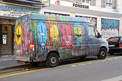Bault (HBA_JIJO) Tags: urban streetart paris france art monster truck graffiti spray camion van monstre vehicule monstro charactere bault hbajijo