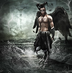 Lord of Storms (_Adra_ * Taking Clients*) Tags: photoshop medieval fantasy hunter predator rp harpy roleplay