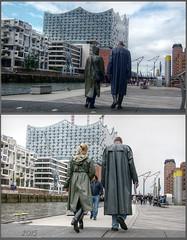Opera Hamburg (klepptomanie) Tags: klepper raincoat rainwear mac boots gummistiefel rubberboots hood hafencity