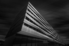 Phoenix (blondmao) Tags: stcki building bnw switzerland facade blaserarchitekten stckibusinesspark clouds 16stopper longexposure dark architecture light bw blackandwhite sky basel