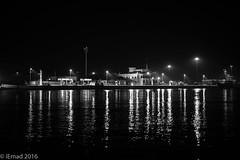 Serenity of the night... (EHA73) Tags: leica nightphotography travel blackandwhite bw monochrome dubai uae shoreline dubaicreek leicamm aposummicronm1250asph typ246
