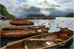 Rowing Boats (Mike Carter) Tags: derwentwater lake district cubria rowing boats