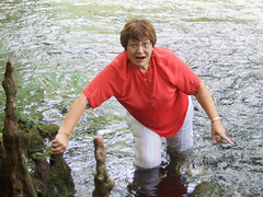 51 years of wet fun (clarkfred33) Tags: water wade hillsboroughriver wetadventure wetclothes senior senioradventure wetfun florida wetwoman wetlook redandwhite enjoy