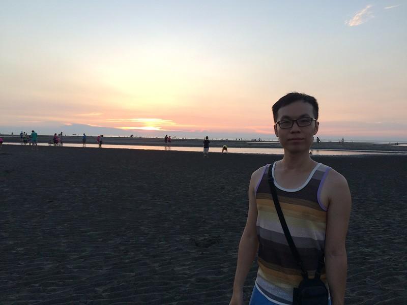 大安濱海沙灘 日落