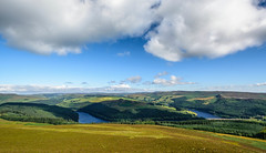 Ladybower, from Win Hill Pike (johngregory250666) Tags: tor tree morning outside lane peak district uk derbyshire rural nature british countryside camera lens green yellow orange stone nikon nikkor hiking walking lines clouds sky blue moss lichen out derwent brook reservoir glow grass imagesofengland amazing sunlight water light sun outdoor grassland field landscape hill howden trees plant serene forest moors ridge great national park mountain lose sunset moor moorland ladtbower win winhill