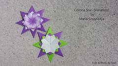 Corona Star (Variation) by Maria Sinayskaya (esli24) Tags: coronastar mariasinayskaya origami origamistar origamistern papierfalten paperfolding papiersterne ilsez