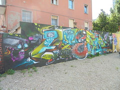 229 (en-ri) Tags: fyends eteam 2016 bologna wall muro graffiti writing mattoni occhio eye telecamera
