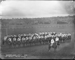 Mounted infantry, Warwick. c.1899 (Queensland State Archives) Tags: queensland qsa archive horse horses australia infantry mounted uniform warwick musketry