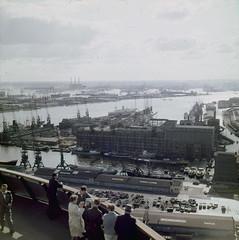 63: Rotterdam Euromast 1961 (Steenvoorde Leen - 1.9 ml views) Tags: rotterdam haven havengebied 1961 euromast