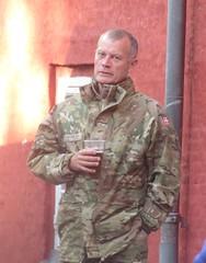Soldier with a beer (cohodas208c) Tags: audience copenhagenjazzfestival danes kastellet thecitadel