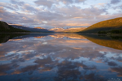 """Morning Reflections"" (Explore) (ScenicMotion) Tags: norway norge jotunheimen mountains mountain reflections lake landscape sunrise alpenglow vresjodalsvatn oppland clouds rasletind kalvehgde valdresflye rv51 maurvangen"