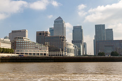 Canary Wharf on The River Thames (myfrozenlife) Tags: canarywharf boattrip england london travel trip buildings vacation riverthames 7d canon unitedkingdom gb