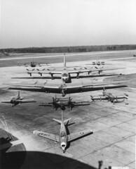 SDASM Aircraft Image (San Diego Air & Space Museum Archives) Tags: andrews f86 f82 p80 f84 yb49 b36 b47 b45 aircraft bomber