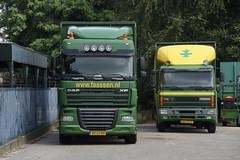 Faassen DAF XF 105.300 / BV-LF-95 en DAF 75.240 ATI / BD-ST-57 in Tegelen 13-08-2016 (marcelwijers) Tags: faassen daf xf 105300 bvlf95 en 75240 ati bdst57 tegelen 13082016 105 300 408 pk 75 240 truck lkw vrachtauto vrachtwagen