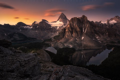 Assiniboine Sunrise (jasonfdarr) Tags: water mountains vancouver mountassiniboine jasondarr canadianrockies canada