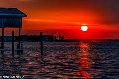 Simply Perdido (Nino Mndez) Tags: sunset perdido bay pensacola florida sony a7 rokinon 135mm f56 water sun beach dock boat colors