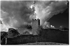 The Ominous Ruins of Dvigrad (oar_square) Tags: croatianmonument historicalmonument istria ghosttownsinistria stonemonument medievalstonevillage abandoned historicalproperty monochrome blackandwhite